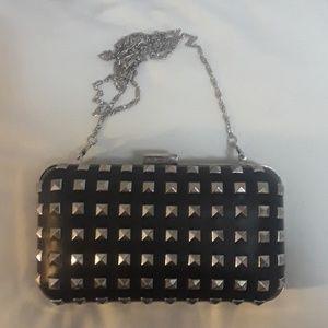 Forever 21 studded clutch - black